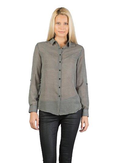 COLINS черный женский рубашки длинний рукав<br>Пол: женский; Цвет: черный; Размер INT: XS;