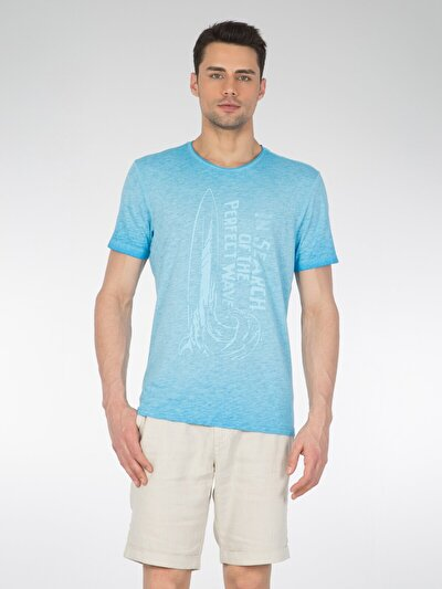 COLINS голубой <br>Пол: мужской; Цвет: светло-голубой; Размер INT: XL;