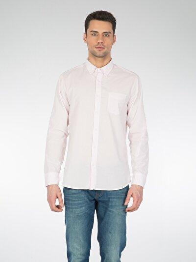 COLINS розовый мужской рубашки длинний рукав<br>Пол: мужской; Цвет: светло-розовый; Размер INT: S;
