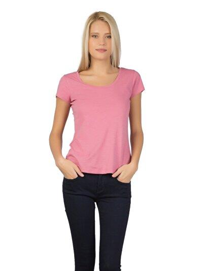 COLINS розовый женский футболки короткий рукав<br>Пол: женский; Цвет: рос пинк; Размер INT: XL;