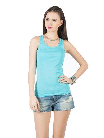COLINS синий бирюзовый женский майки<br>Пол: женский; Цвет: бирюзовый зеленый; Размер INT: M;
