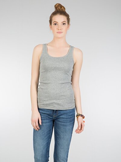 COLINS серый женский майки<br>Пол: женский; Цвет: смешанный серый; Размер INT: M;