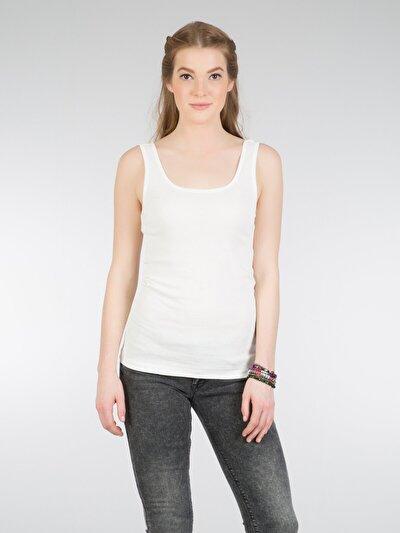 COLINS белый женский майки<br>Пол: женский; Цвет: белый; Размер INT: XL;