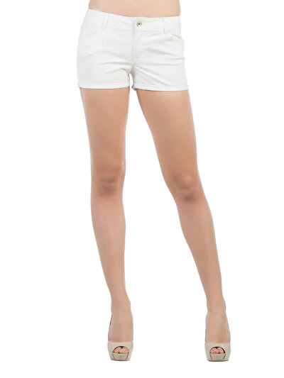 COLINS белый женский шорты<br>Пол: женский; Цвет: белый; Размер INT: 40;