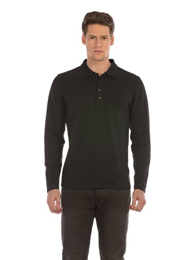 COLINS антрацит мужской футболки-поло д. рукав<br>Пол: мужской; Цвет: антрацит; Размер INT: XL;