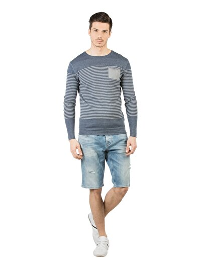 COLINS деним мужской шорты<br>Пол: мужской; Цвет: лайт алдо уош; Размер INT: XXL;