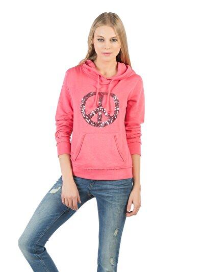 COLINS розовый женский толстовки<br>Пол: женский; Цвет: карамельно-розовый; Размер INT: XS;