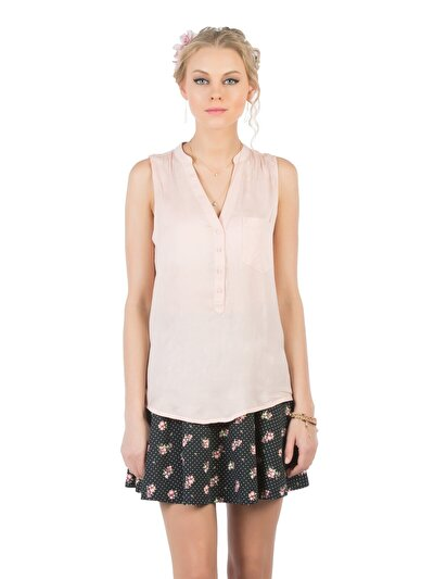 COLINS розовый женский рубашки короткий рукав<br>Пол: женский; Цвет: розовый; Размер INT: M;