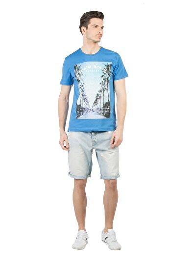 COLINS деним мужской шорты<br>Пол: мужской; Цвет: джесс уош; Размер INT: L;