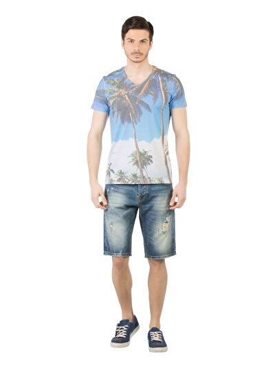 COLINS деним мужской шорты<br>Пол: мужской; Цвет: басил уош; Размер INT: S;