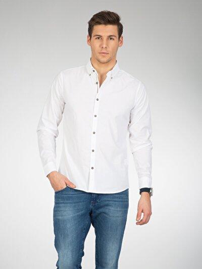COLINS белый мужской рубашки длинний рукав<br>Пол: мужской; Цвет: белый; Размер INT: XL;
