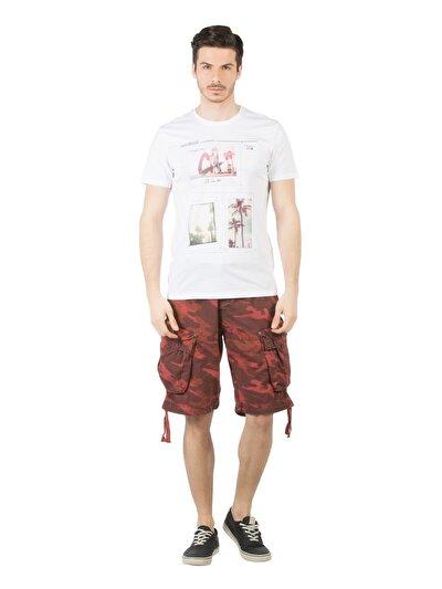COLINS красный мужской шорты<br>Пол: мужской; Цвет: красный; Размер INT: L;