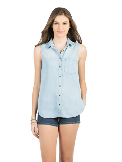 COLINS  женский рубашки короткий рукав<br>Пол: женский; Цвет: лайт шелли уош; Размер INT: XL;