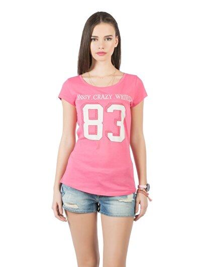 COLINS фуксия женский футболки короткий рукав<br>Пол: женский; Цвет: фуксия; Размер INT: S;