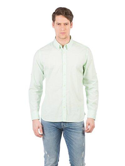 COLINS зеленый мужской рубашки длинний рукав<br>Пол: мужской; Цвет: зеленый; Размер INT: XXL;