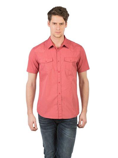 COLINS кораловый мужской рубашки короткий рукав<br>Пол: мужской; Цвет: светлый коралл; Размер INT: XXL;