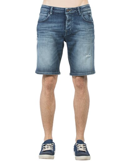 COLINS деним мужской шорты<br>Пол: мужской; Цвет: дарк джон уош; Размер INT: L;