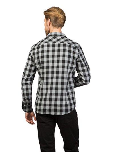COLINS серый мужской рубашки длинний рукав<br>Пол: мужской; Цвет: серый; Размер INT: L;