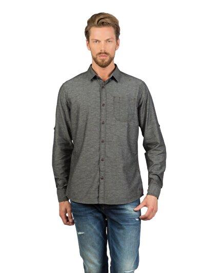 COLINS черный мужской рубашки длинний рукав<br>Пол: мужской; Цвет: черный; Размер INT: XL;