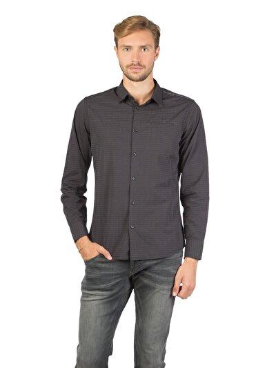 COLINS черный мужской рубашки длинний рукав<br>Пол: мужской; Цвет: черный; Размер INT: XXL;