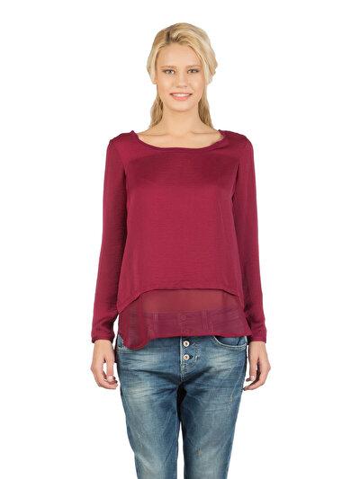 COLINS бордовый женский рубашки длинний рукав<br>Пол: женский; Цвет: бордовый; Размер INT: S;