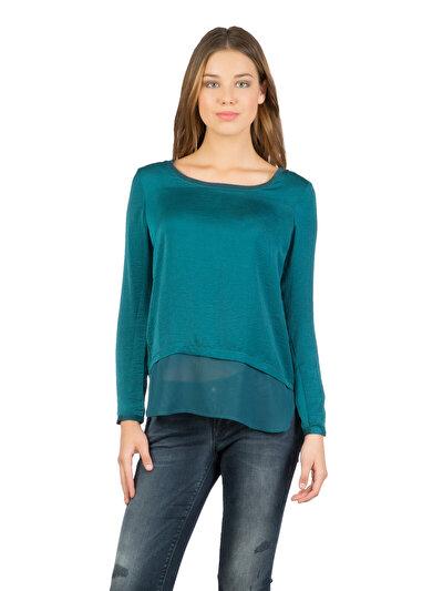 COLINS зеленый женский рубашки длинний рукав<br>Пол: женский; Цвет: синевато-зелёный; Размер INT: S;