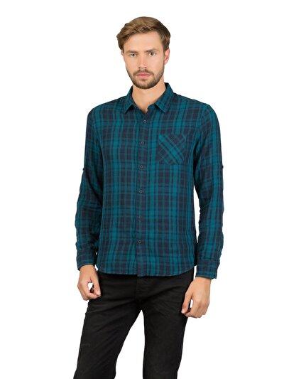 COLINS зеленый мужской рубашки длинний рукав<br>Пол: мужской; Цвет: зеленый; Размер INT: L;