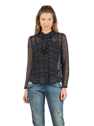 COLINS черный женский рубашки длинний рукав<br>Пол: женский; Цвет: черный; Размер INT: S;