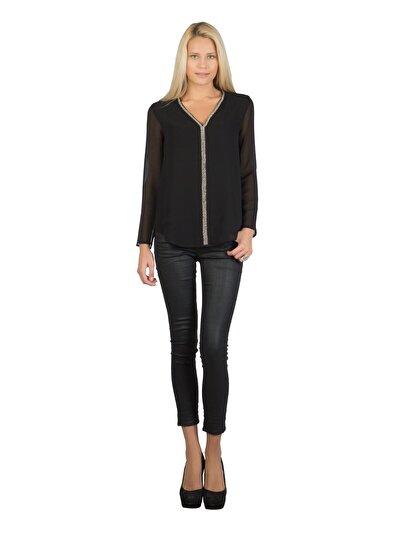 COLINS черный женский рубашки длинний рукав<br>Пол: женский; Цвет: черный; Размер INT: XL;