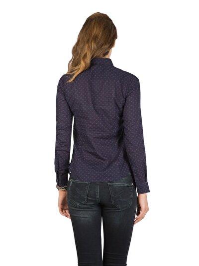 COLINS синий женский рубашки длинний рукав<br>Пол: женский; Цвет: синий; Размер INT: S;
