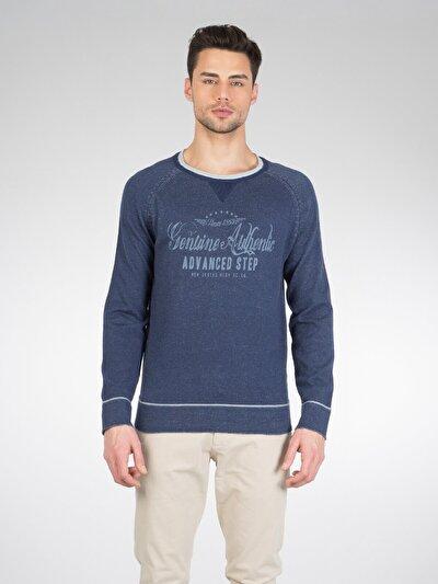 COLINS синий мужской свитеры<br>Пол: мужской; Цвет: синий меланж; Размер INT: S;