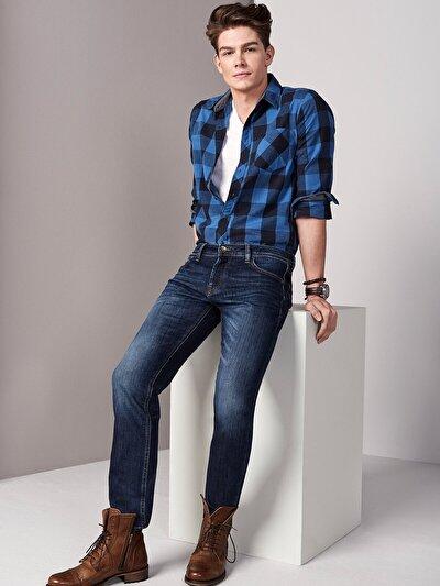 COLINS  мужской брюки<br>Пол: мужской; Цвет: воуш навви троя; Размер INT: 28/32;