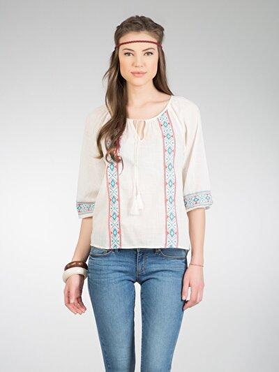 COLINS бежевый женский рубашки длинний рукав<br>Пол: женский; Цвет: бежевый; Размер INT: L;