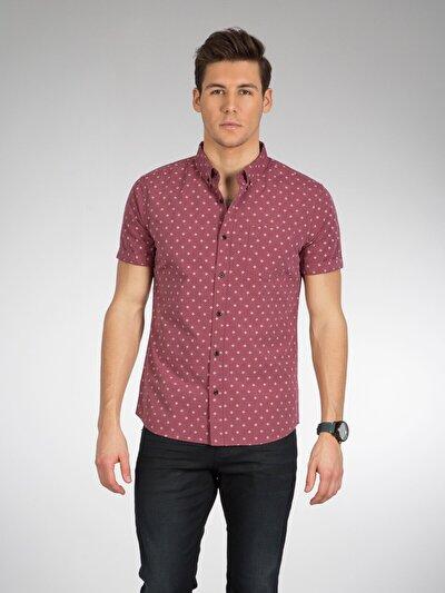 COLINS розовый мужской рубашки короткий рукав<br>Пол: мужской; Цвет: рос пинк; Размер INT: XL;