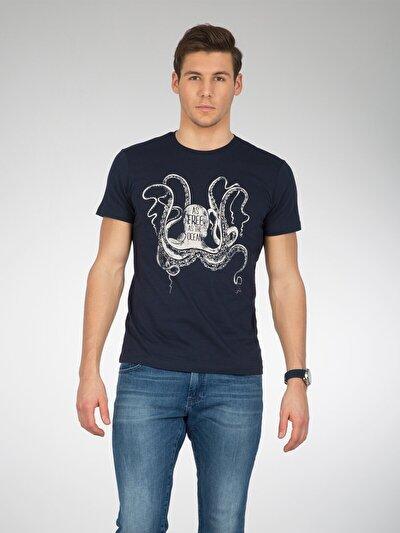COLINS синий мужской футболки короткий рукав<br>Пол: мужской; Цвет: синий; Размер INT: XXL;