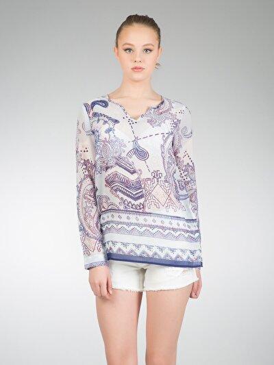 COLINS  женский рубашки длинний рукав<br>Пол: женский; Цвет: фиолетовый; Размер INT: L;