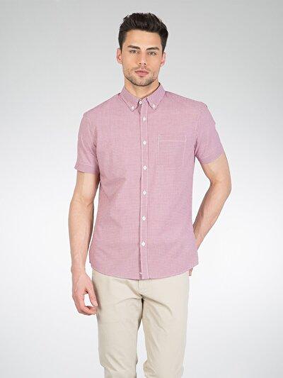 COLINS красный мужской рубашки короткий рукав<br>Пол: мужской; Цвет: красный; Размер INT: L;