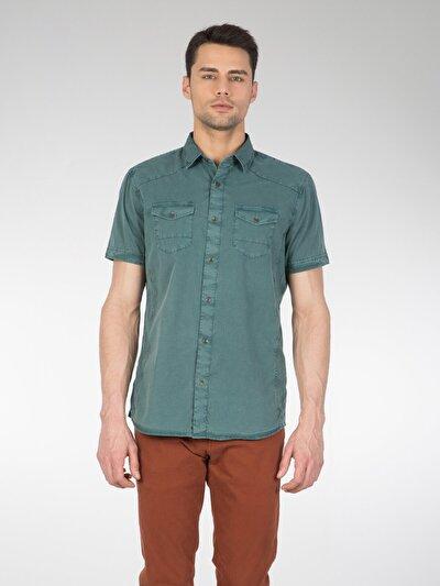 COLINS зеленый мужской рубашки короткий рукав<br>Пол: мужской; Цвет: зеленый; Размер INT: XL;