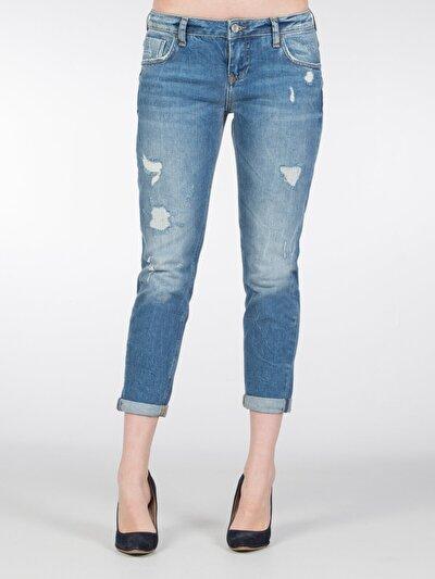 COLINS деним женский брюки<br>Пол: женский; Цвет: сторми уош; Размер INT: 30;