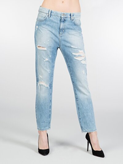 COLINS деним женский брюки<br>Пол: женский; Цвет: оксиджен оуш; Размер INT: 26;