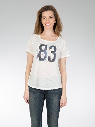 COLINS белый женский футболки короткий рукав<br>Пол: женский; Цвет: белый; Размер INT: XS;