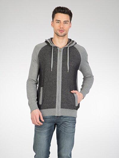 COLINS серый мужской кардиганы<br>Пол: мужской; Цвет: смешанный серый; Размер INT: XL;
