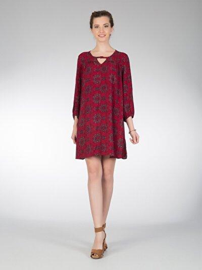 COLINS бордовый женский платья<br>Пол: женский; Цвет: бордовый; Размер INT: M;