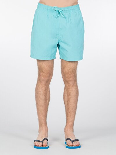 COLINS синий бирюзовый мужской пляжные шорты<br>Пол: мужской; Цвет: синий бирюзовый; Размер INT: S;