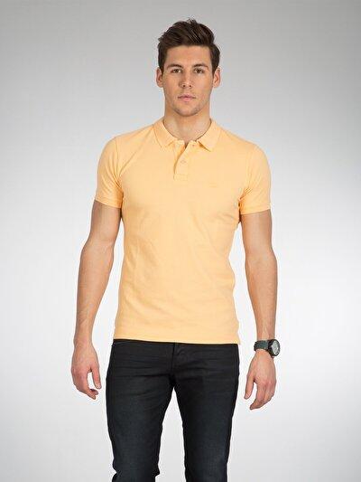 COLINS  мужской футболки-поло к. рукав<br>Пол: мужской; Цвет: светло оранжевый; Размер INT: S;
