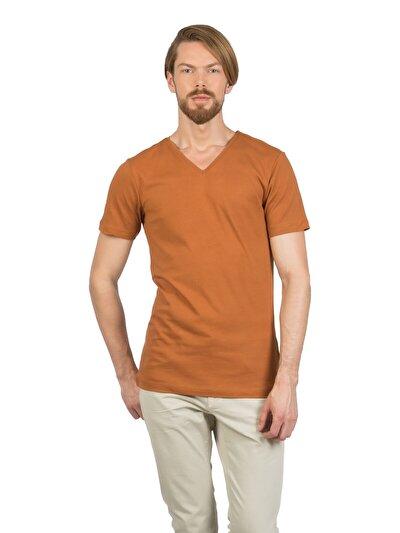 COLINS коричневый мужской футболки короткий рукав<br>Пол: мужской; Цвет: карамельный; Размер INT: XXL;