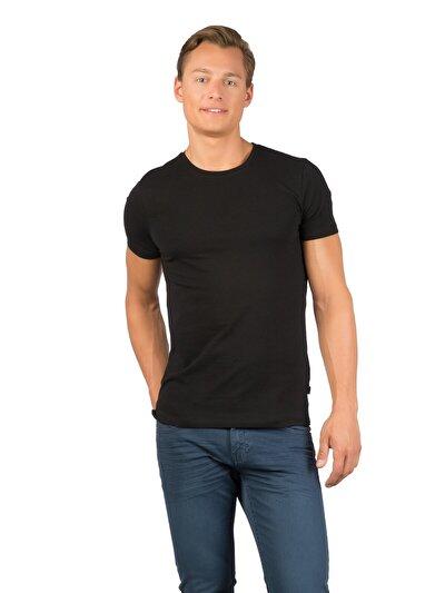 COLINS черный мужской футболки короткий рукав<br>Пол: мужской; Цвет: черный; Размер INT: XXL;