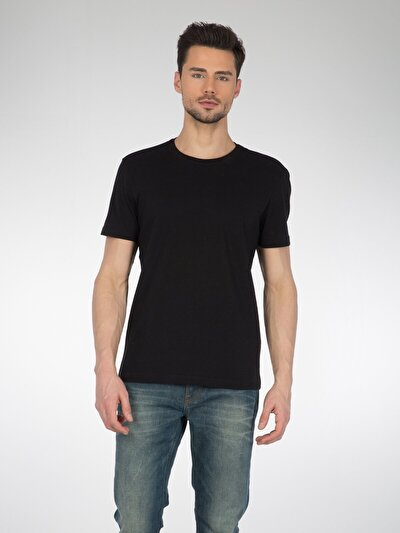 COLINS черный мужской футболки короткий рукав<br>Пол: мужской; Цвет: черный; Размер INT: L;