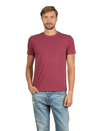 COLINS бордовый мужской футболки короткий рукав<br>Пол: мужской; Цвет: бордовый меланж; Размер INT: XL;
