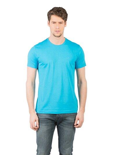 COLINS синий бирюзовый мужской футболки короткий рукав<br>Пол: мужской; Цвет: синий бирюзовый; Размер INT: S;